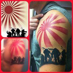 TMNT silhouette tattoo (teenage mutant ninja turtles) sun tattoo