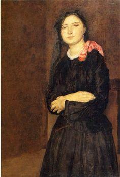 Gwen John, Dorelia in a Black Dress, 1903-04