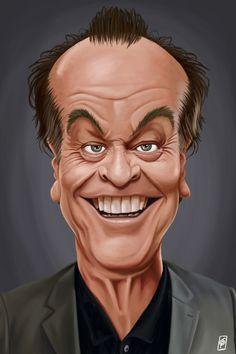 """Celebrity Sunday - Jack Nicholson"" - canvas print by Rob Snow"
