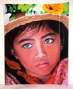 Décoration Bohème Indien Romantique Portrait  par DivaDivinePastel