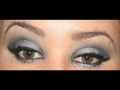 Maquillaje de Ojos con Plateado y Negro - YouTube