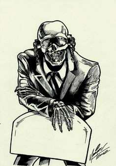 | Vic Rattlehead from Megadeth by ~MistermindH on deviantART