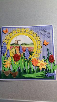 Bloemen kaart Marianne Design, Atc, Homemade Cards, Card Making, Paper Crafts, Crafty, Flowers, Tissue Paper Crafts, Paper Craft Work