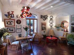 decoraciones de interiores vintage con mesas de carrete - Buscar con Google