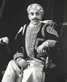 Major-General H. Maharajadhiraja Maharana Shri Sir Bhopal Singh Bahadur, Maharana of Udaipur, India By Rohit SOnkiya Royal Indian, The Royal Collection, 3 Picture, Major General, Indian Heritage, Blue Bloods, Historical Photos, Gradient Color, Indian Fashion