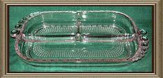 Duncan Miller Teardrop Elegant Depression Glass - Divided Relish, as is