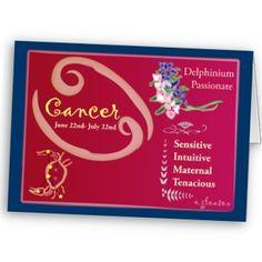 Cancer July Birthday Card- Blank Inside