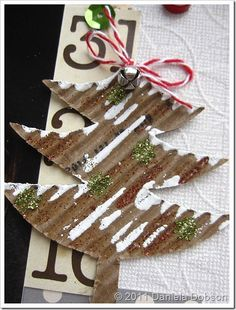 Use a Starbucks sleeve to make cute DIY Christmas tags or embellishments! Diy Christmas Tags, All Things Christmas, Winter Christmas, Christmas Time, Christmas Crafts, Christmas Ideas, Handmade Christmas, Preschool Crafts, Fun Crafts