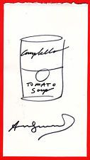 ANDY WARHOL ORIGINAL SIGNED AUTOGRAPH SKETCH DRAWING CAMPBELLS SOUP CAN