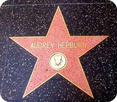 Audrey Hepburn's Star on the Walk of Fame.Clark Gable and Cary Grant are neighbors at 1608 and 1610 Vine Street. Audrey Hepburn is a little further down the way at 1652 Vine. Cary Grant, Hollywood California, Hollywood Walk Of Fame, Happy Girls, Happy Thoughts, S Star, Audrey Hepburn, Seasons, Clark Gable