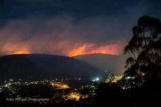 Blue Mountains Australia, ablaze Oct 17, 2013