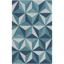 Impression Callie Hand-Tufted Blue Area Rug