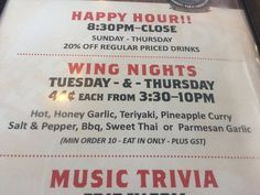 Happy Hour specials, and wing nights! The Shady Rest Waterfront,n 3109 Island Hwy W, Qualicum Be