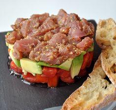 Receta de Tartar de atún con aguacate - Deliciosas recetas de cocina con foto: arroz, legumbres, carnes, postres...