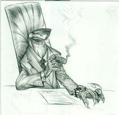 Der Hai #characterdesign #shark #manager #buisnessman