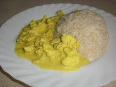 Pollo al curry con arroz Mis humildes recetitas: GMD olla programable