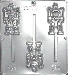 Transformer Robot Lollipop Chocolate Candy Mold by CandyMoldsNMore