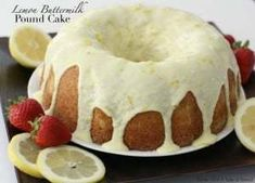 Lemon Buttermilk Pound Cake is a classic pound cake recipe with the addition of fresh lemon! Buttermilk gives this Lemon Pound Cake a wonderful texture and everyone loves the bright flavor of the lemon glaze. It's the perfect pound cake! Lemon Desserts, Köstliche Desserts, Lemon Recipes, Sweet Recipes, Delicious Desserts, Dessert Recipes, Dinner Recipes, Lemon Cakes, Plated Desserts
