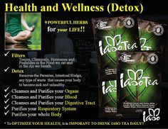 this is an amazing product that works so that your body detox's ... check out the video on front page and learn all the other health benefits