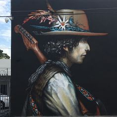 Amazing mural by #EsaoAndrews at #Wynwood Miami for #SPACESTUDIOSPROJECT  #BobDylan