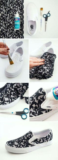Decorar tenis con lace