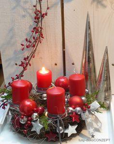 Adventskranz - Adventskranz *Stars* - ein Designerstück von tulip-dekoCONZEPT bei DaWanda