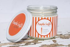 Soy Candle with US Free Shipping  Pumpkin by ViVOSpaBoutique, $20.00