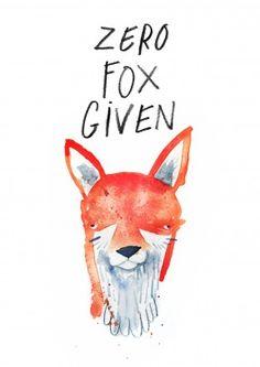 Zero Fox Given|Funny General Card|JA1106