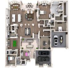 Residence 3 3D Floor Plan