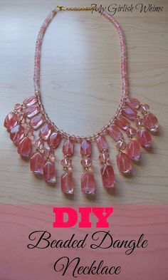 DIY Beaded Dangle Necklace by My Girlish Whims