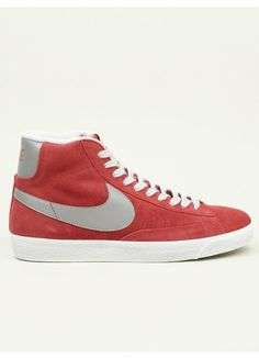 Nike Men's Red Blazer Mid Prm Vntg Suede Sneakers