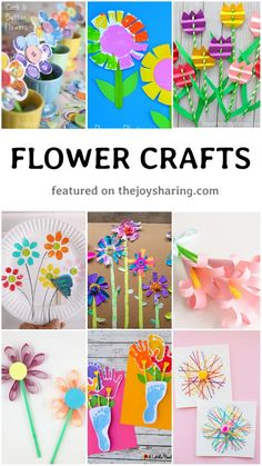 Lots of easy flower crafts for spring theme project. You can also make these flower crafts for mother's day. Creative Arts And Crafts, Arts And Crafts Projects, Easy Crafts, Insect Crafts, Frog Crafts, Spring Crafts For Kids, Mothers Day Crafts For Kids, Flower Activities For Kids, Easter Activities