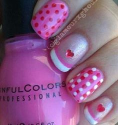 Valentines nail art Make sure to check out http://www.thepolishobsessed.com for nail art, tutorials, giveaways and more!