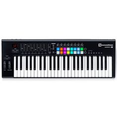 The complete USB MIDI keyboard controller for Ableton Live. Novation Launchkey is the essential controller for producing electronic music in Live - or any DAW - and comes with everything you need to start making electronic music. Digital Piano Keyboard, Keyboard Piano, Home Studio, Studio Gear, Novation Launchpad, Midi Keyboard, Drum Pad, Music Software, Used Guitars