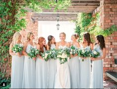Elegant Sea Island Wedding from Laura Negri Photography Amsale Bridesmaid, Green Bridesmaid Dresses, Wedding Dresses, Blue Wedding, Elegant Wedding, Dream Wedding, Wedding Colors, Tiffany Blue Bridesmaids, Vow To Be Chic