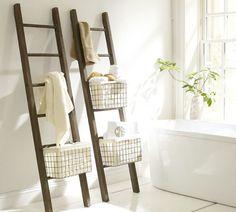 Decoratie ladder in badkamer | Modern shower, Interiors and Bathroom ...