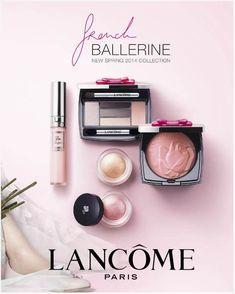 Lancôme French Ballerine Spring 2014 Collection #Lancome #French #Ballerine #Look #Spring #2014 #Makeup #Pastels
