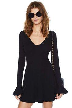 Nasty Gal Frilly Vanilli Dress - Black