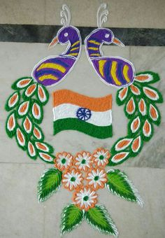 DIY Craft Ideas for India Independence Day & Republic Day Independence Day Drawing, Independence Day Activities, Independence Day Special, Independence Day Decoration, Independence Day Wallpaper, Indian Independence Day, Rangoli Ideas, Rangoli Designs Diwali, Easy Rangoli