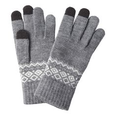 Patterned touchscreen gloves