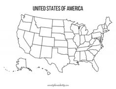 Homeschool Life Blank United States Maps Looking for some blank United States Maps for your homeschool? There is a blank black & white map and colorful blank map.