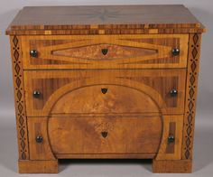 19TH CENTURY BIEDERMEIER INLAID CHEST