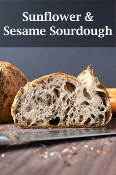 My recipe for a healthy and hearty sourdough bread with roasted sunflower and sesame seeds—plush a little dash of honey. Absolutely delicious bread! #sourdough #bread #baking Recipe Using Sourdough Starter, Starter Recipes, Sourdough Recipes, My Recipes, Bread Recipes, Yeast Bread, Sourdough Bread, Bread Baking, Pizza And More