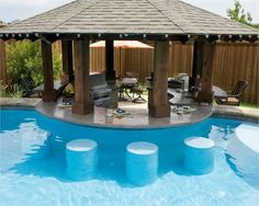 outdoor kitchens with swim up bars | swim up bar by allisonn