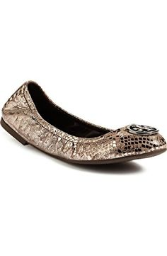 17b0b839c06 Tory Burch Heidi Ballerina Ballet Flat Pewter Snake Silver Size 75     Be  sure to check out this awesome product. Note It is Affiliate Link to Amazon.