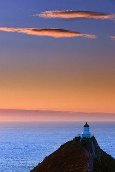 Sunrise - Lighthouse Nugget Point, New Zealand