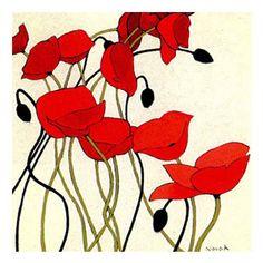 poppies graphic