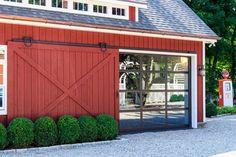 Sliding Barn Door Open (Revealing Glass Garage Door)...