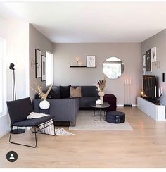 "SCANDINAVIAN INTERIOR INSPO on Instagram: ""What a gorgeous living room🖤 Have a nice day lovely people 🖤🌿 Cred @carinas_385 . . . #livingroominspo #livingroomdesign #livingroomideas…"""