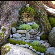 Another cute idea for a fairy (faerie) house.